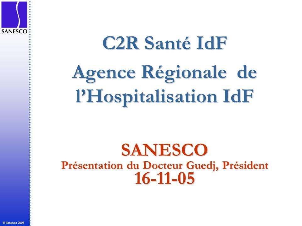 C2R Santé IdF Agence Régionale de l'Hospitalisation IdF