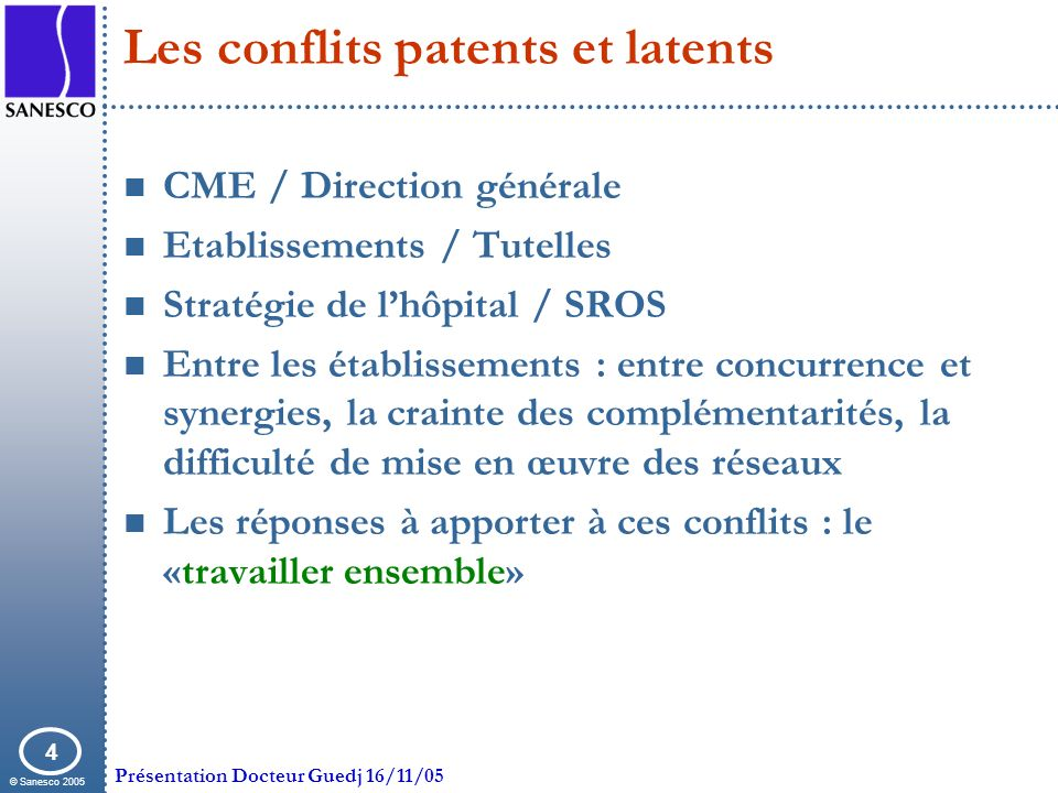 Les conflits patents et latents