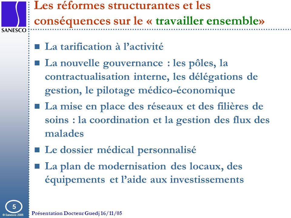 Les réformes structurantes et les conséquences sur le « travailler ensemble»