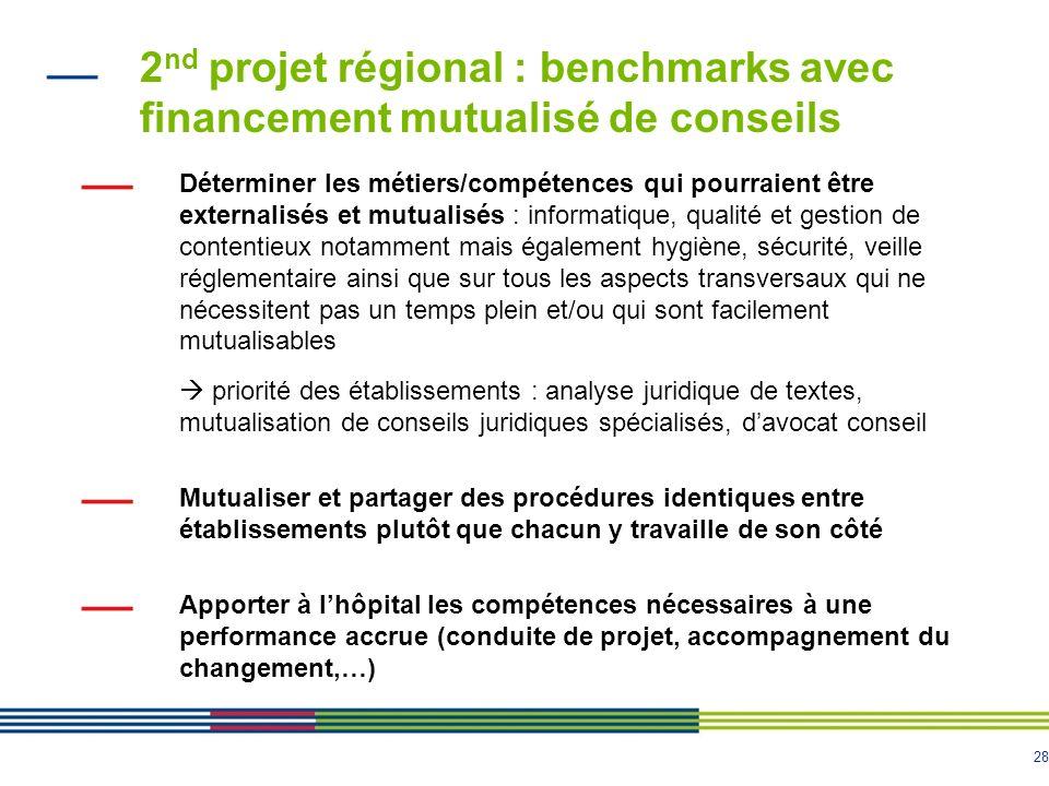 2nd projet régional : benchmarks avec financement mutualisé de conseils