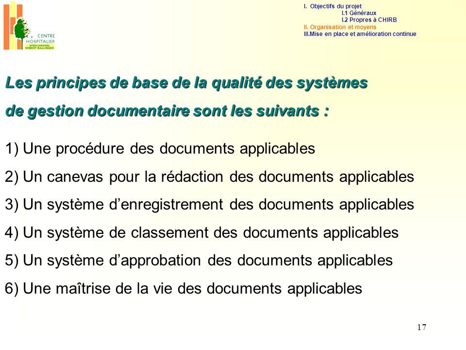 Les principes de base de la qualité des systèmes