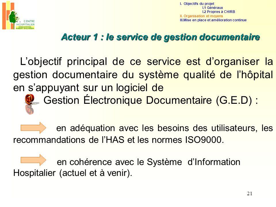 Gestion Électronique Documentaire (G.E.D) :