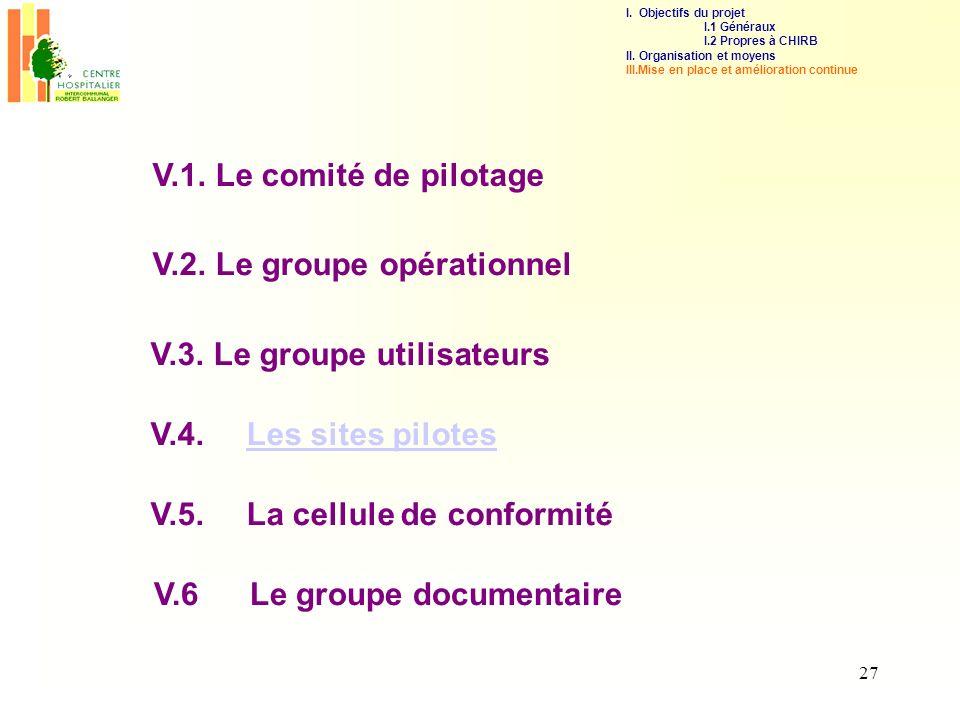 V.2. Le groupe opérationnel