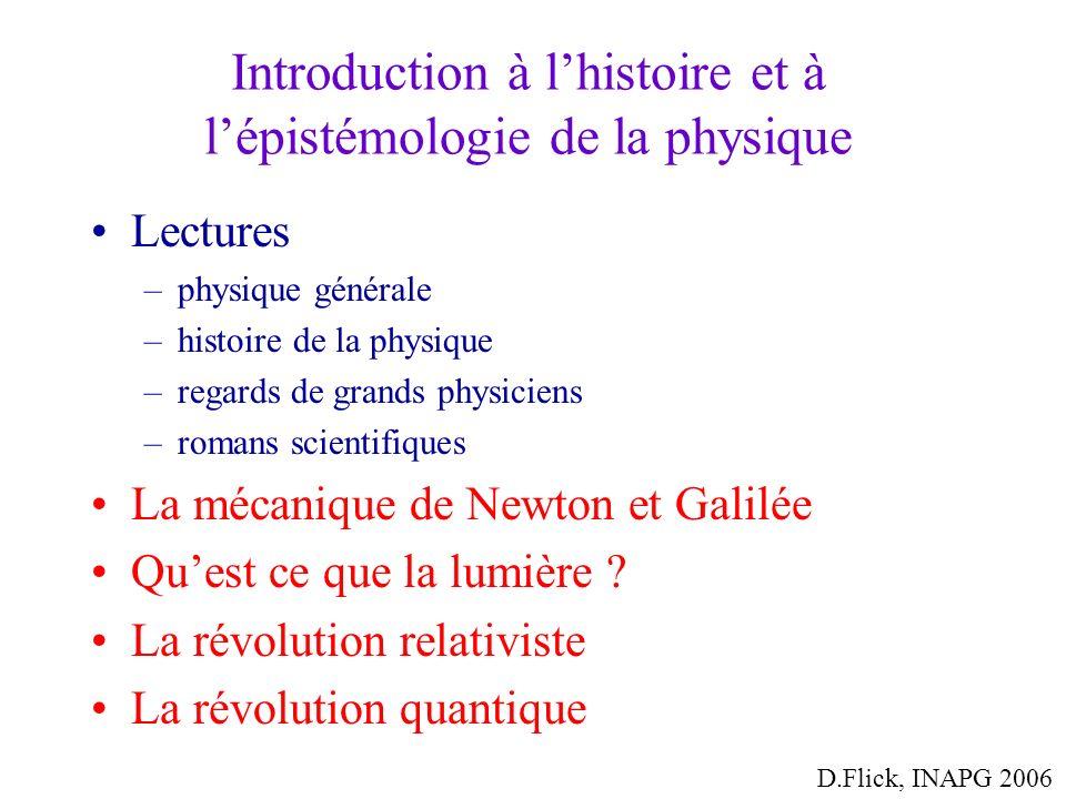 Introduction à l'histoire et à l'épistémologie de la physique