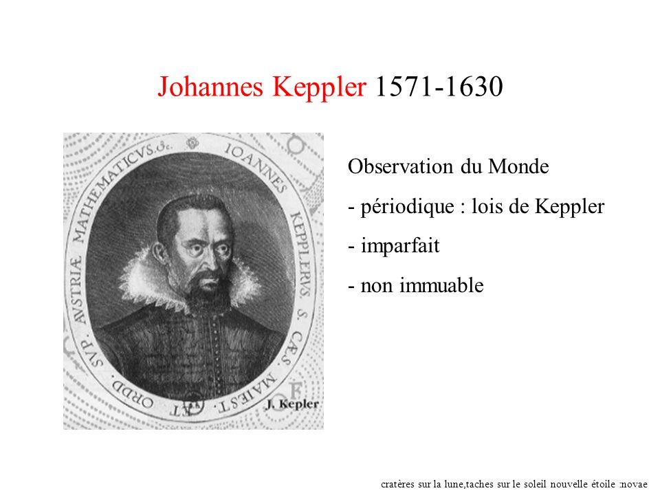 Johannes Keppler 1571-1630 Observation du Monde