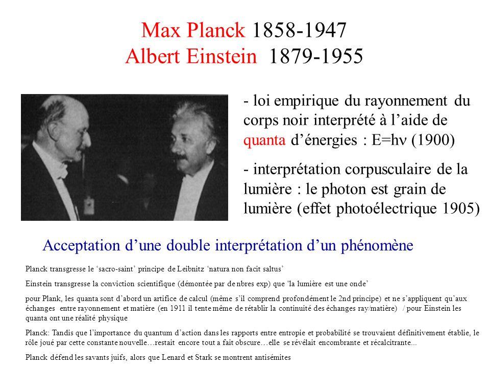Max Planck 1858-1947 Albert Einstein 1879-1955