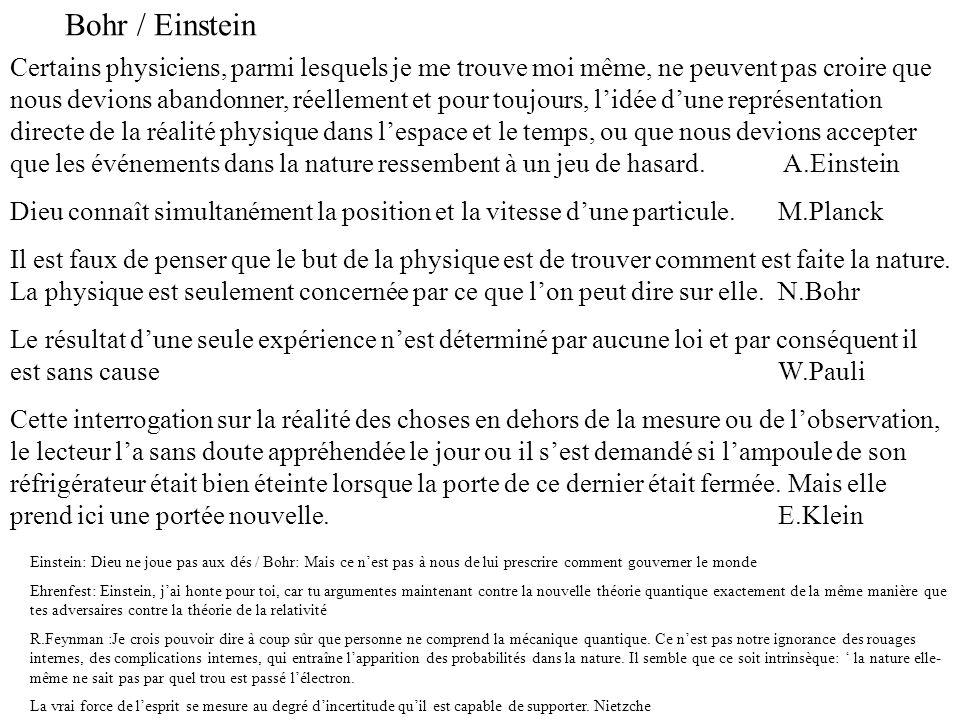 Bohr / Einstein