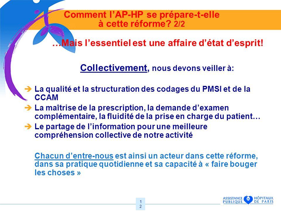 Comment l'AP-HP se prépare-t-elle à cette réforme 2/2