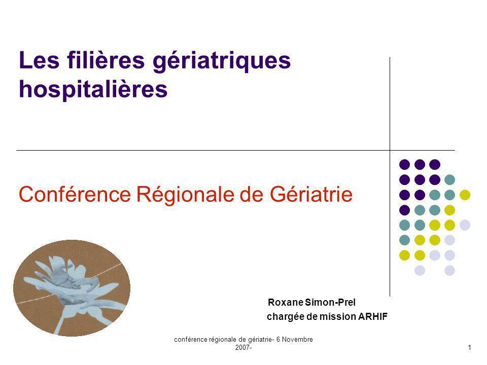 conférence régionale de gériatrie- 6 Novembre 2007-