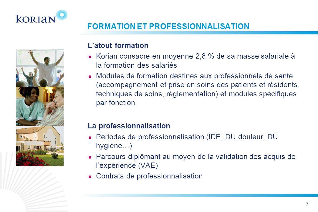 FORMATION ET PROFESSIONNALISATION