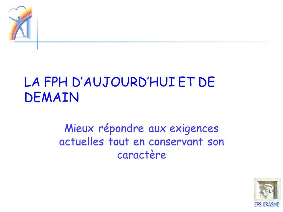 LA FPH D'AUJOURD'HUI ET DE DEMAIN
