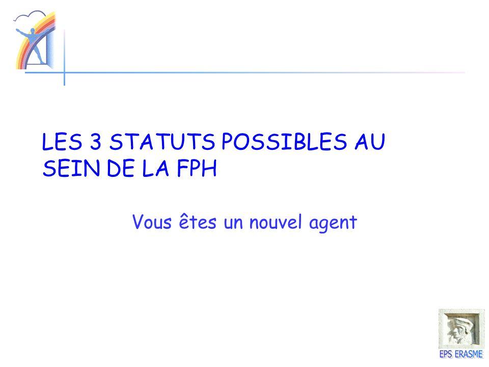 LES 3 STATUTS POSSIBLES AU SEIN DE LA FPH