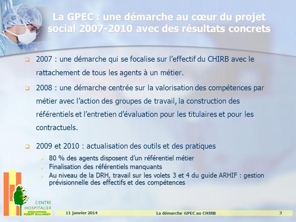La GPEC : une démarche au cœur du projet social 2007-2010 avec des résultats concrets