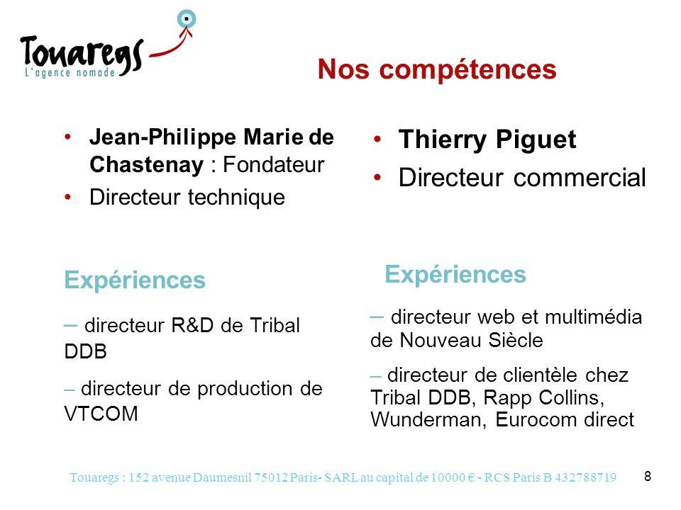 Nos compétences Thierry Piguet Directeur commercial Expériences