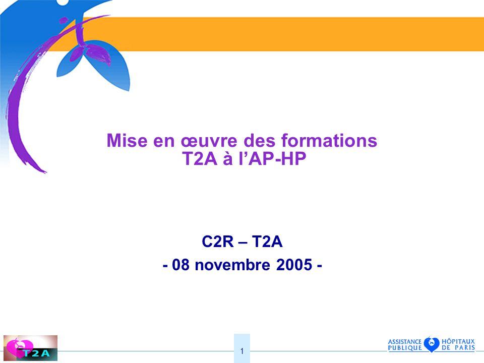 Mise en œuvre des formations T2A à l'AP-HP