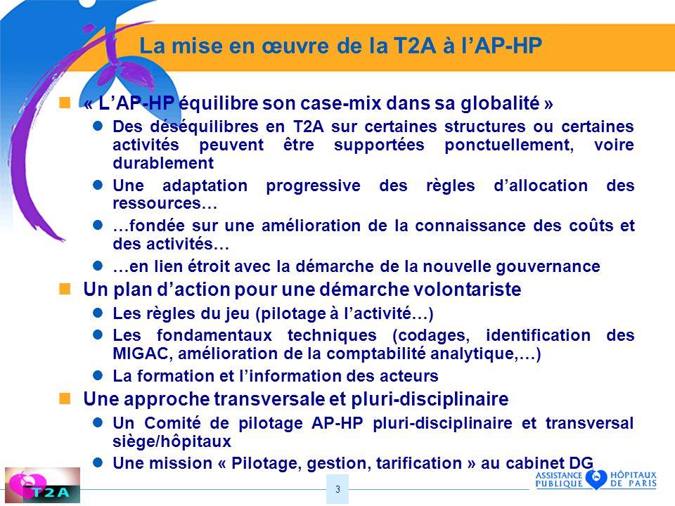 La mise en œuvre de la T2A à l'AP-HP