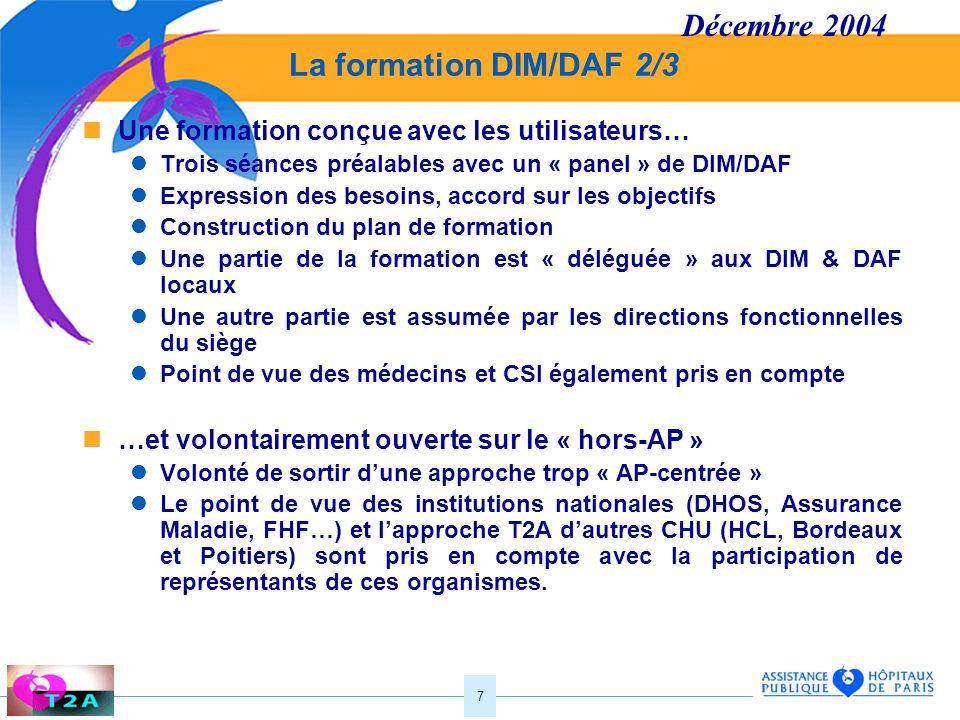 Décembre 2004 La formation DIM/DAF 2/3
