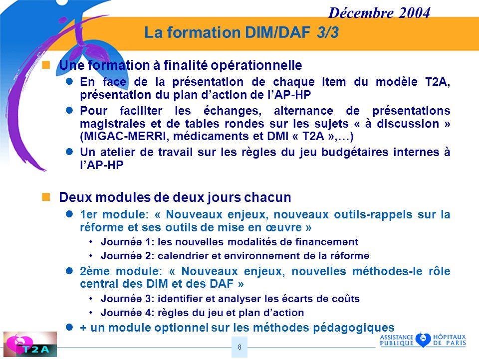 Décembre 2004 La formation DIM/DAF 3/3