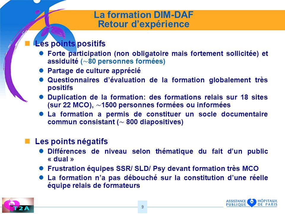 La formation DIM-DAF Retour d'expérience