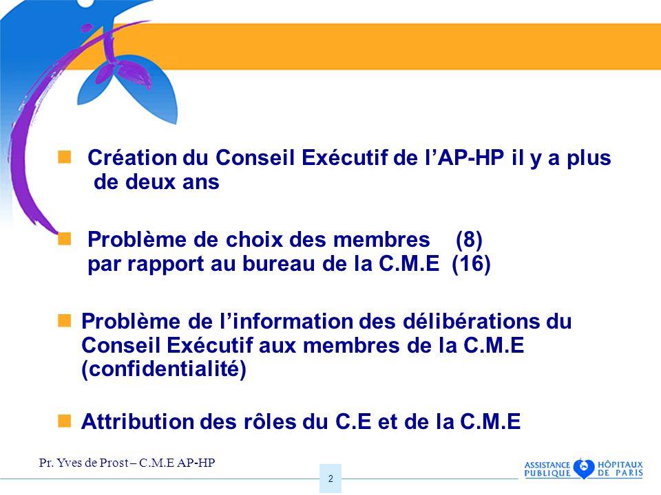 Création du Conseil Exécutif de l'AP-HP il y a plus de deux ans