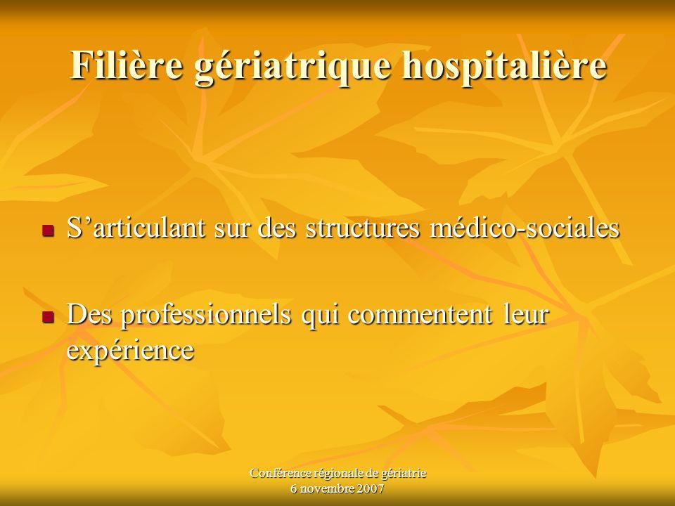 Filière gériatrique hospitalière