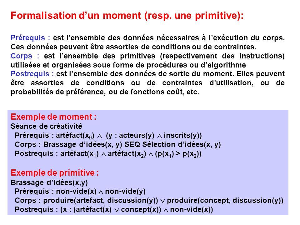 Formalisation d'un moment (resp. une primitive):