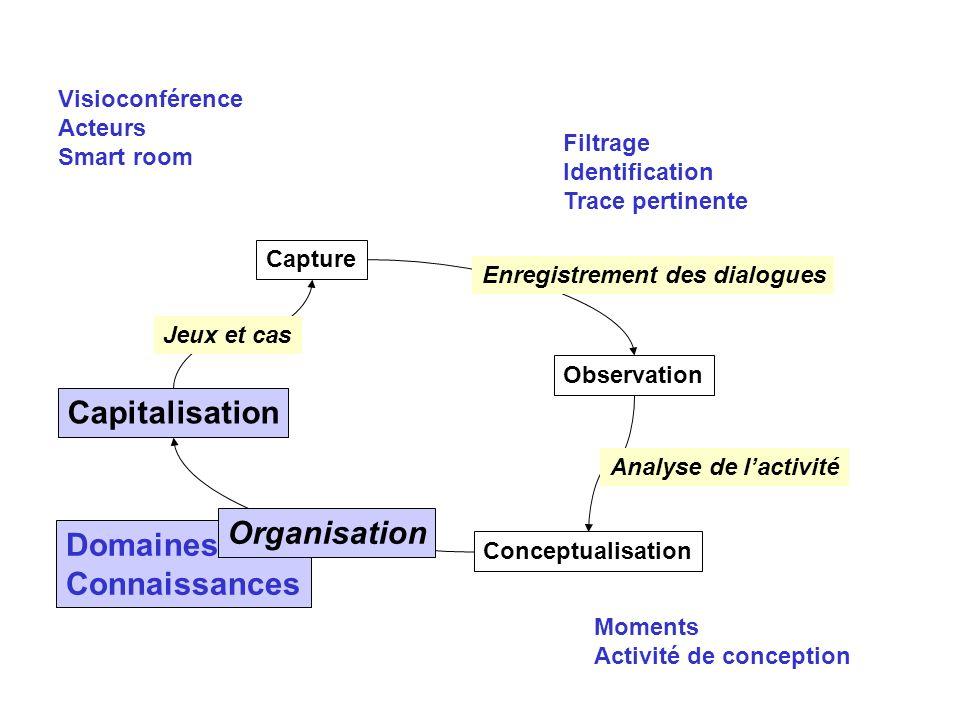 Capitalisation Organisation Domaines Connaissances Visioconférence