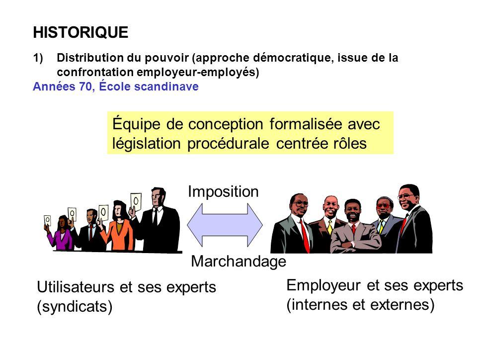 Utilisateurs et ses experts (syndicats) Employeur et ses experts