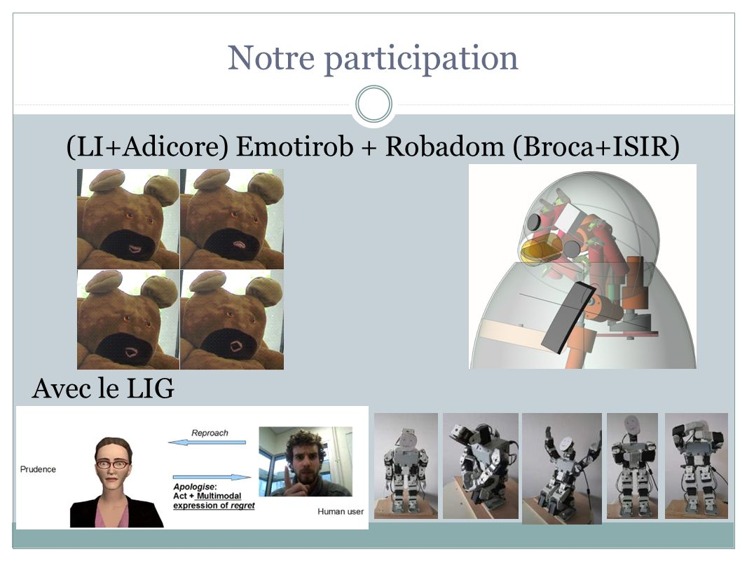 (LI+Adicore) Emotirob + Robadom (Broca+ISIR)
