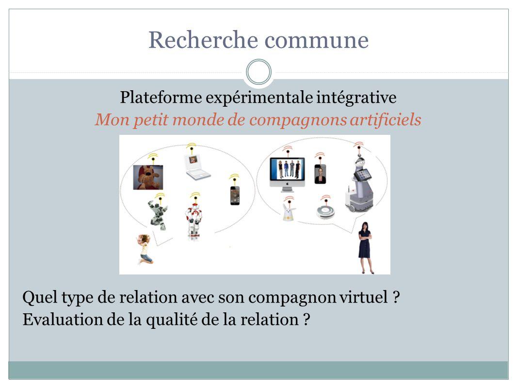 Recherche commune Plateforme expérimentale intégrative