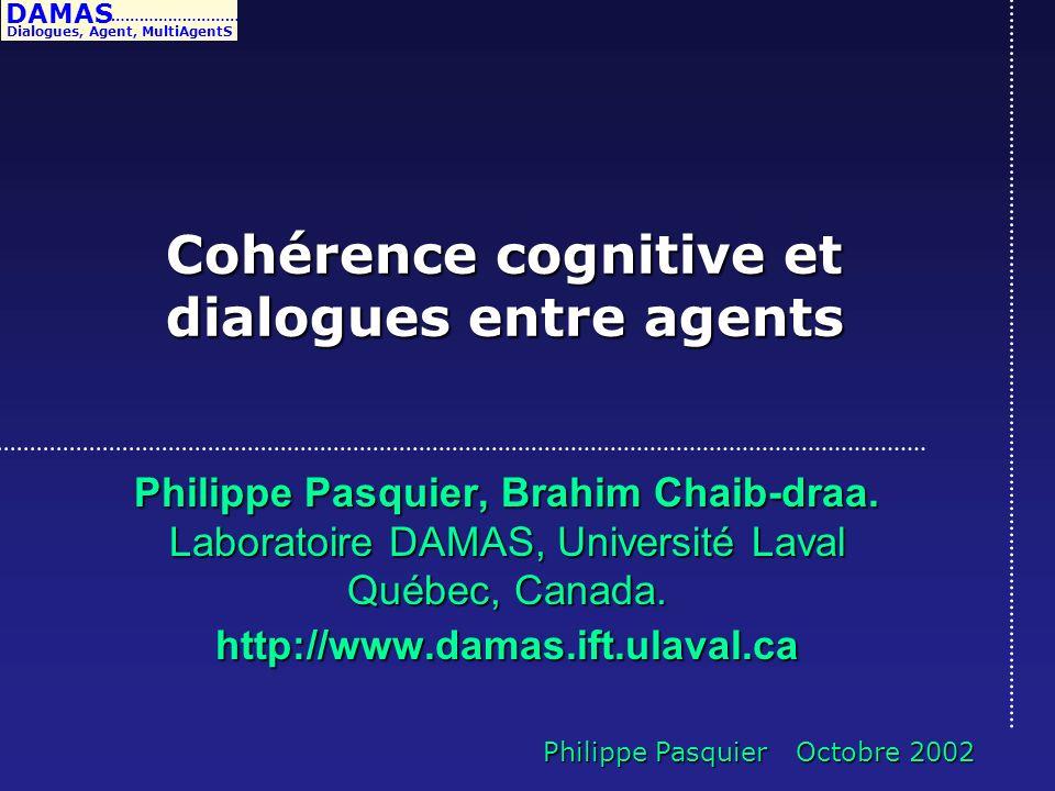 Cohérence cognitive et dialogues entre agents
