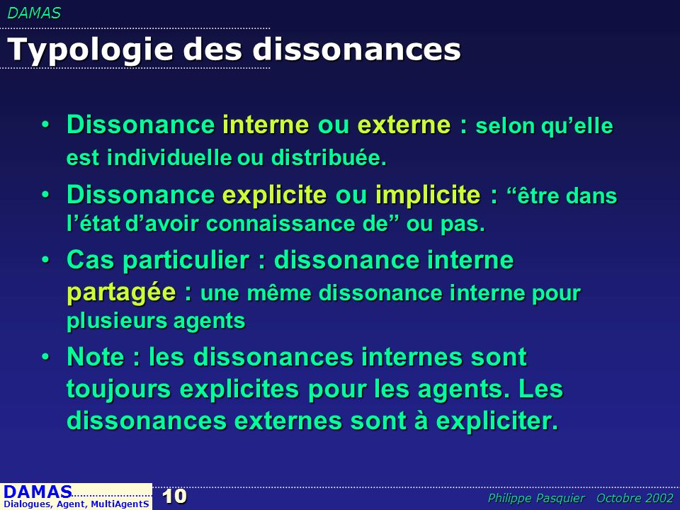 Typologie des dissonances