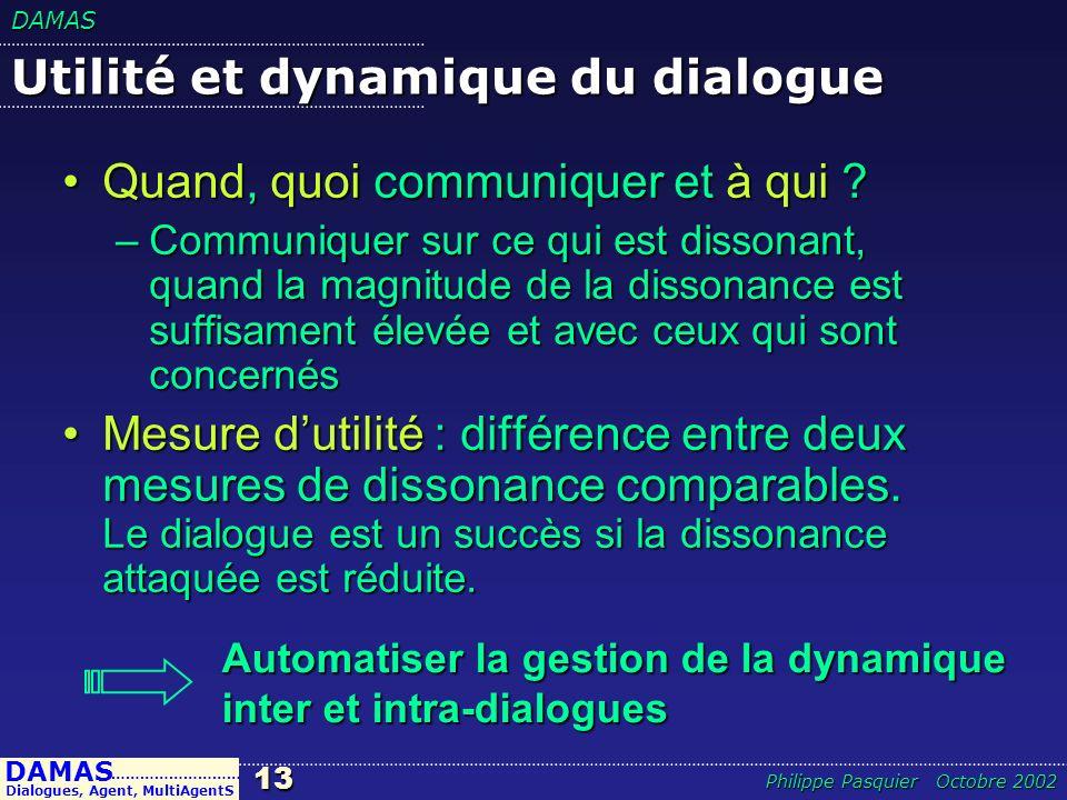 Utilité et dynamique du dialogue