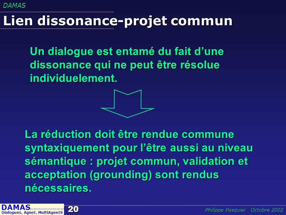 Lien dissonance-projet commun
