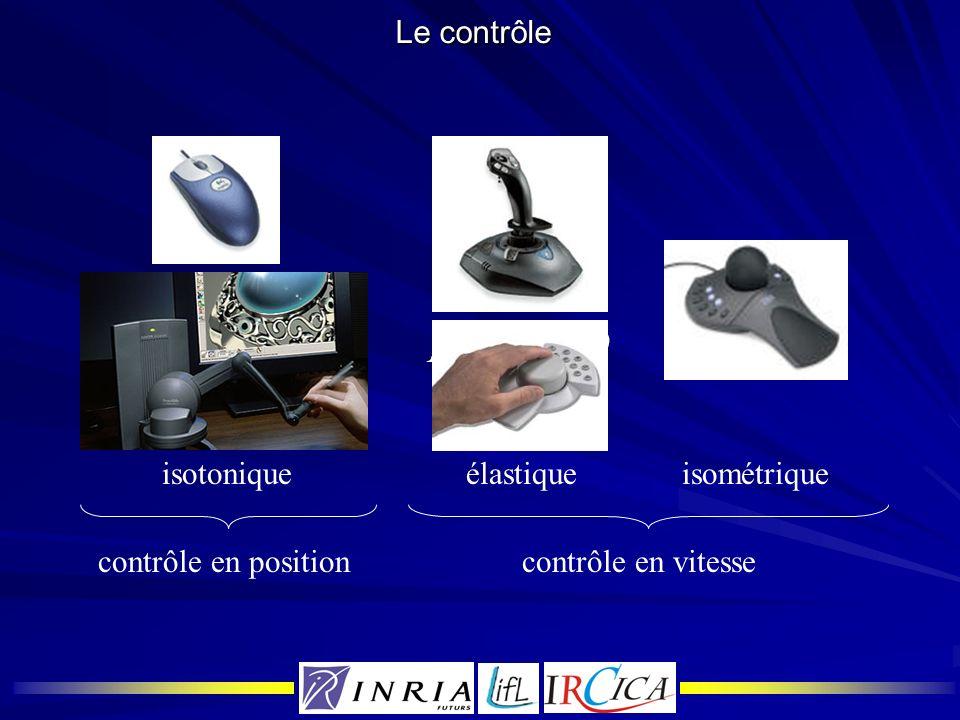 Le contrôle isotonique élastique isométrique contrôle en position contrôle en vitesse