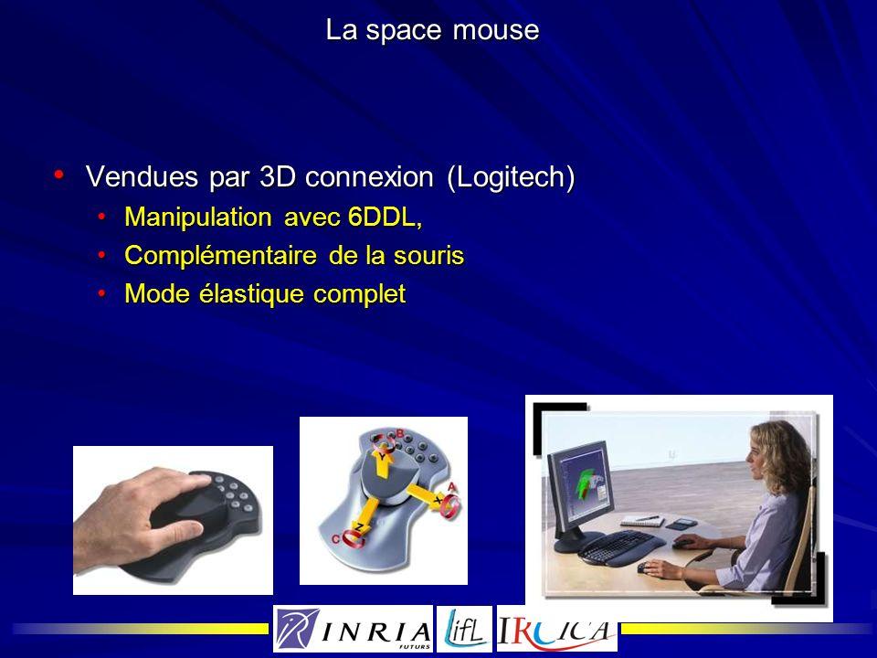 Vendues par 3D connexion (Logitech)