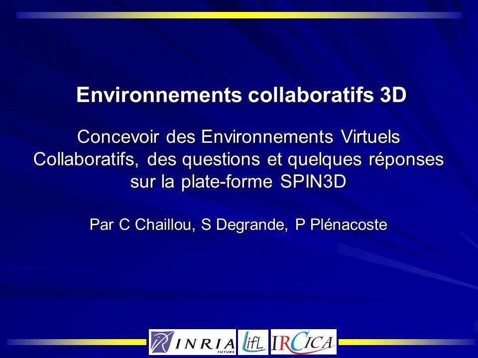 Environnements collaboratifs 3D