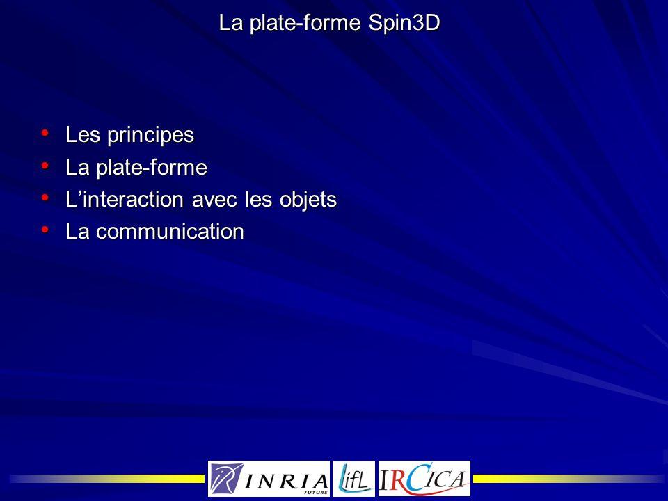 La plate-forme Spin3D Les principes La plate-forme L'interaction avec les objets La communication