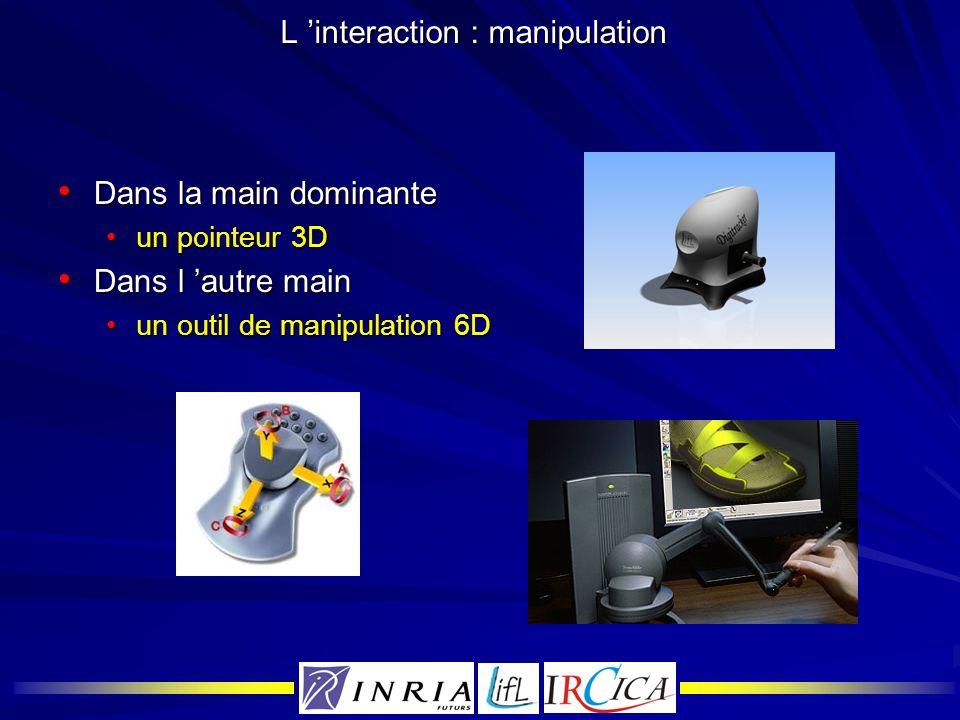 L 'interaction : manipulation