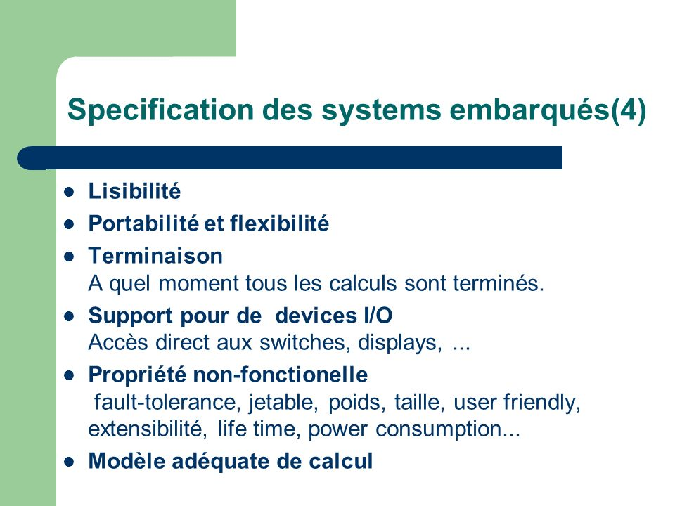 Specification des systems embarqués(4)