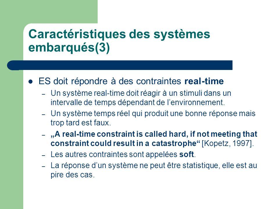 Caractéristiques des systèmes embarqués(3)