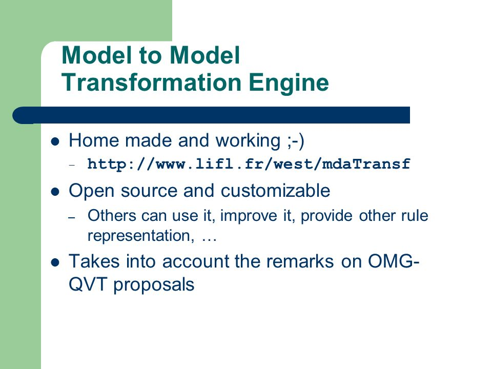 Model to Model Transformation Engine