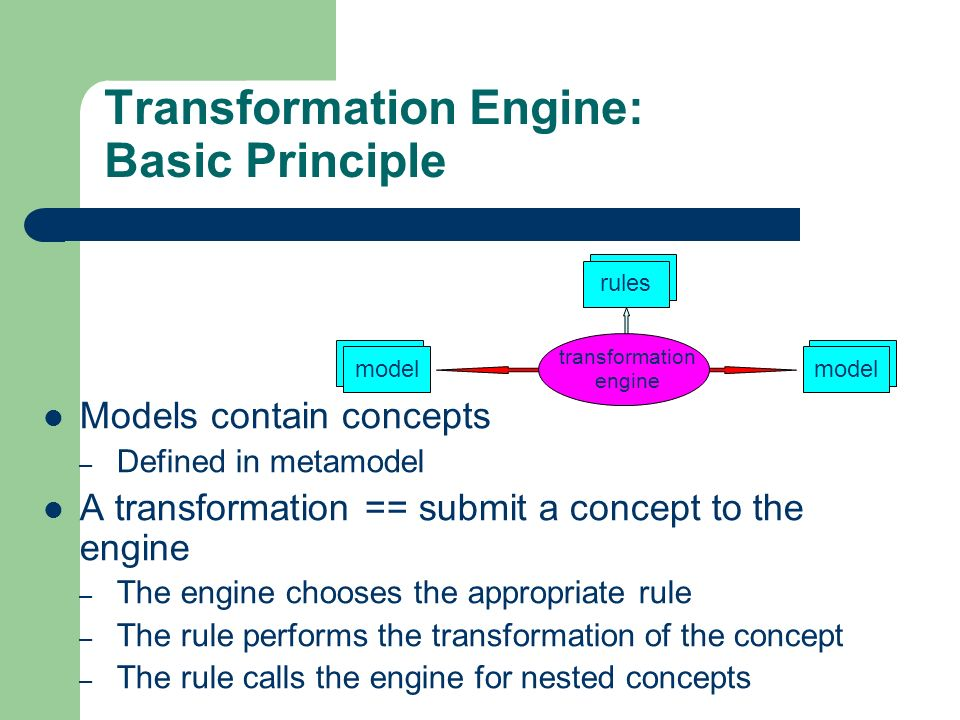 Transformation Engine: Basic Principle