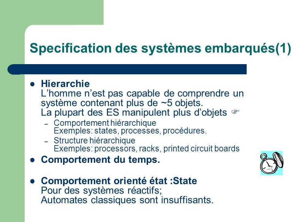 Specification des systèmes embarqués(1)