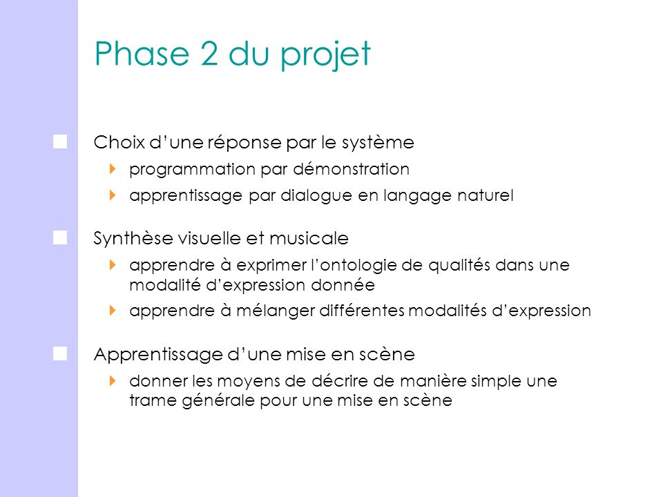 Phase 2 du projet Choix d'une réponse par le système
