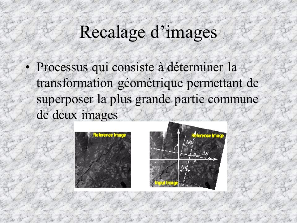 Recalage d'images