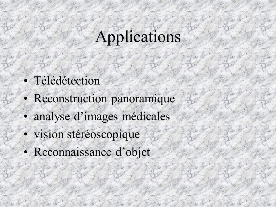 Applications Télédétection Reconstruction panoramique