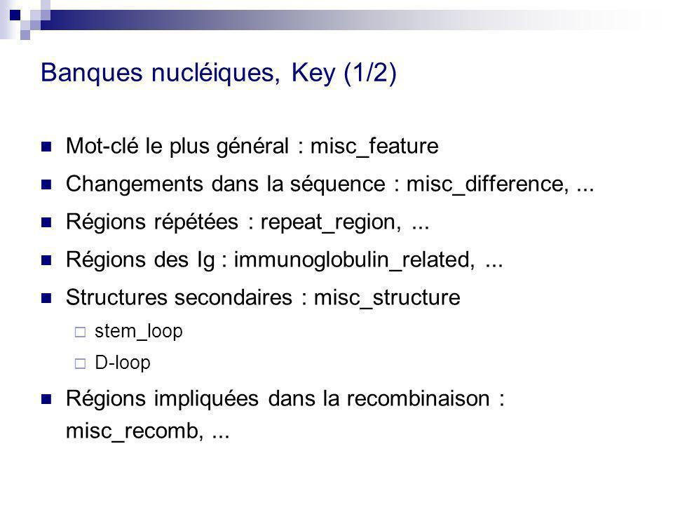 Banques nucléiques, Key (1/2)