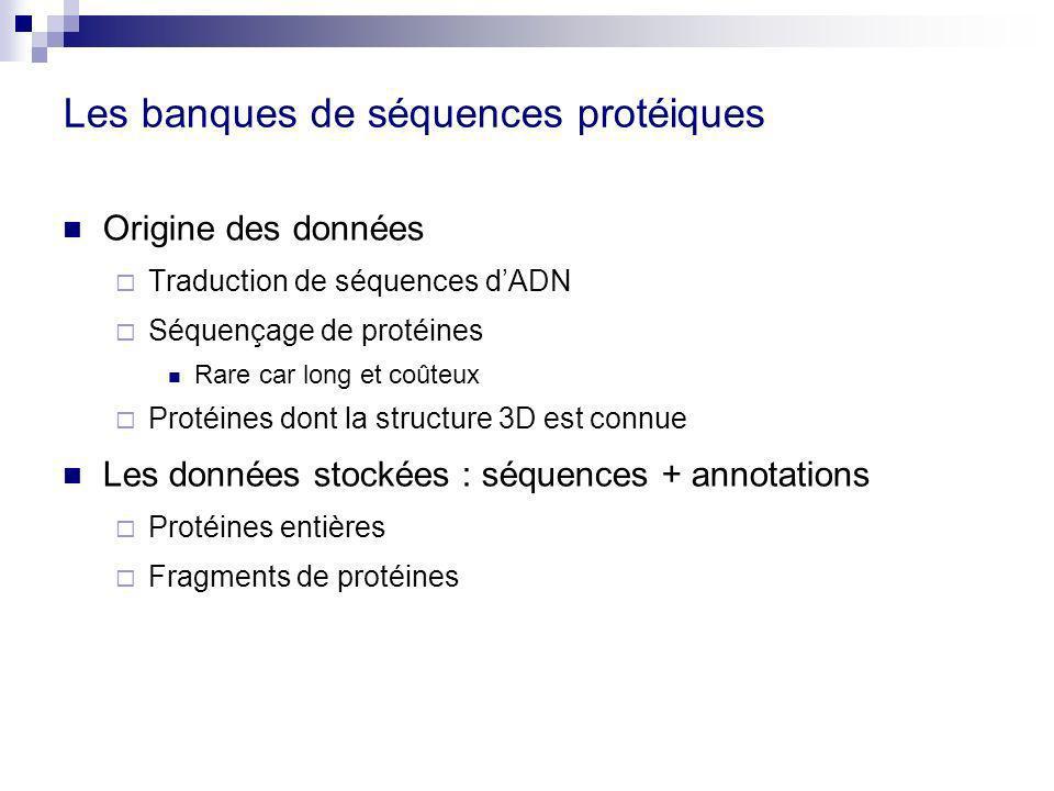 Les banques de séquences protéiques