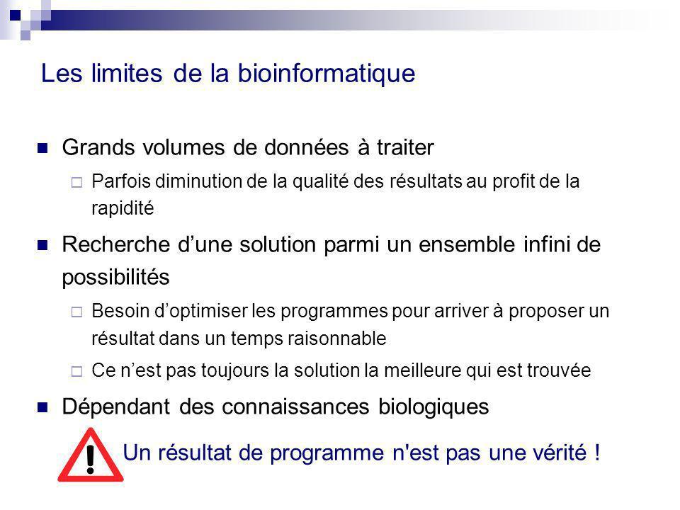 Les limites de la bioinformatique